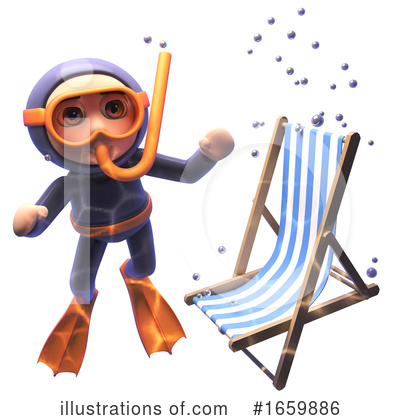 Diver Clipart #1659886 by Steve Young
