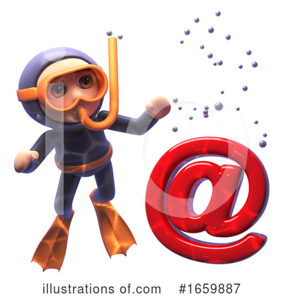 Diver Clipart #1659887 by Steve Young