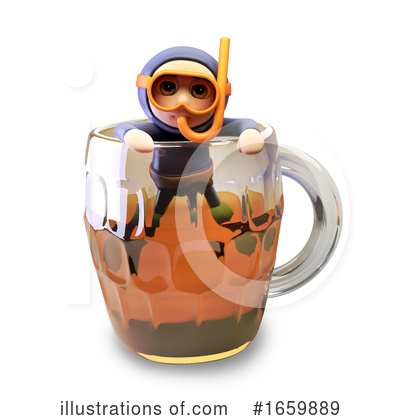 Diver Clipart #1659889 by Steve Young