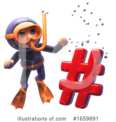 Diver Clipart #1659891 by Steve Young