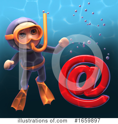 Diver Clipart #1659897 by Steve Young