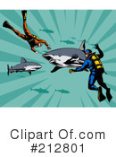 Royalty-Free (RF) Scuba Clipart Illustration #212801