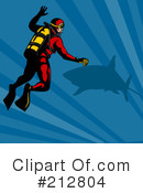 Royalty-Free (RF) Scuba Clipart Illustration #212804
