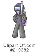 Royalty-Free (RF) Scuba Clipart Illustration #219382
