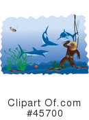 Royalty-Free (RF) scuba Clipart Illustration #45700