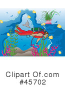 Royalty-Free (RF) Scuba Clipart Illustration #45702