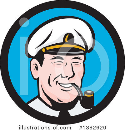 Royalty-Free (RF) Sea Captain Clipart Illustration by patrimonio - Stock Sample #1382620
