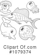 Royalty-Free (RF) Sea Life Clipart Illustration #1079374