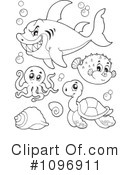 Royalty-Free (RF) Sea Life Clipart Illustration #1096911