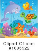 Royalty-Free (RF) sea life Clipart Illustration #1096922