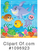 Royalty-Free (RF) Sea Life Clipart Illustration #1096923