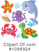 Royalty-Free (RF) sea life Clipart Illustration #1096924