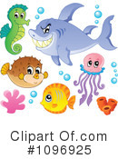 Royalty-Free (RF) Sea Life Clipart Illustration #1096925