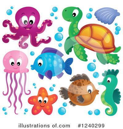 Sea Turtle Clipart #1240299 by visekart