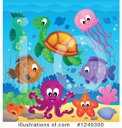 Sea Turtle Clipart #1240300 by visekart