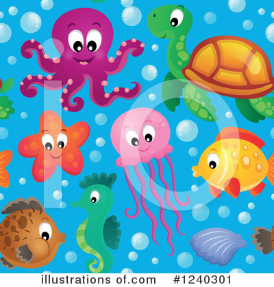 Sea Turtle Clipart #1240301 by visekart