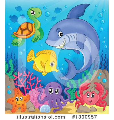 Sea Turtle Clipart #1300957 by visekart