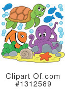 Royalty-Free (RF) Sea Life Clipart Illustration #1312589