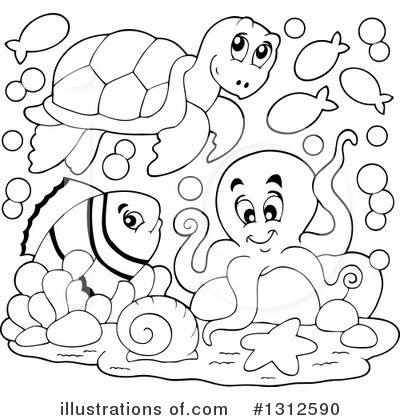 Sea Turtle Clipart #1312590 by visekart