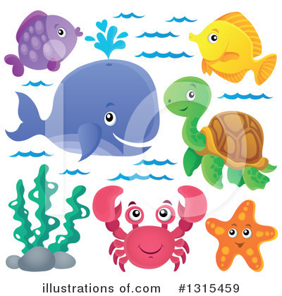 Whale Clipart #1315459 by visekart