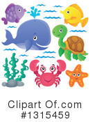 Royalty-Free (RF) Sea Life Clipart Illustration #1315459