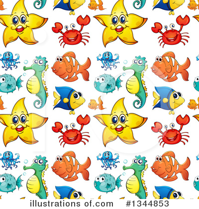 Royalty-Free (RF) Sea Life Clipart Illustration by Graphics RF - Stock Sample #1344853