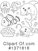 Sea Life Clipart #1371818 by visekart