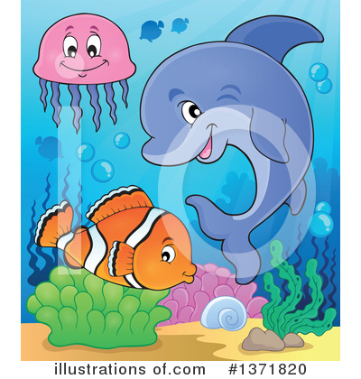 Dolphin Clipart #1371820 by visekart