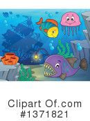 Sea Life Clipart #1371821 by visekart
