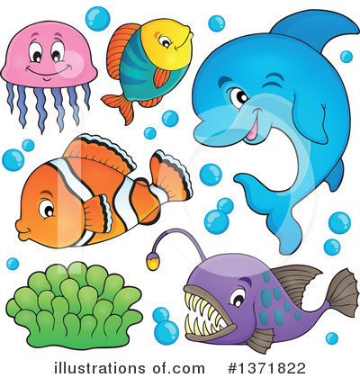 Dolphin Clipart #1371822 by visekart