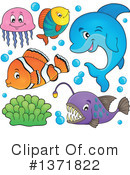 Sea Life Clipart #1371822 by visekart