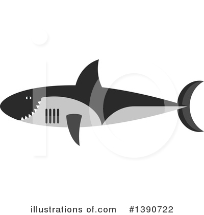 Shark Clipart #1390722 by Vector Tradition SM