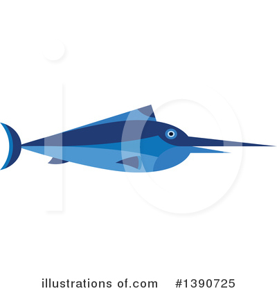 Marlin Clipart #1390725 by Vector Tradition SM