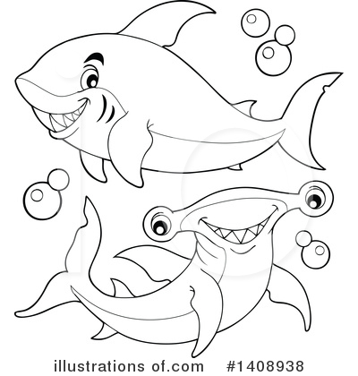 Hammerhead Shark Clipart #1408938 by visekart