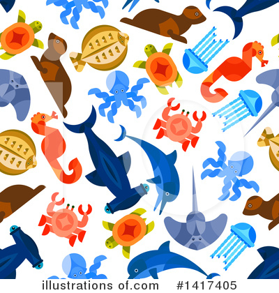 Hammerhead Shark Clipart #1417405 by Vector Tradition SM