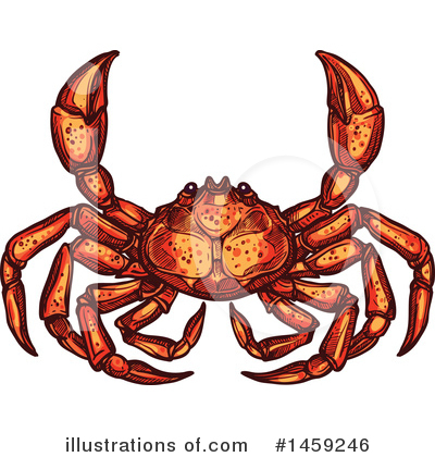 Crab Clipart #1459246 by Vector Tradition SM
