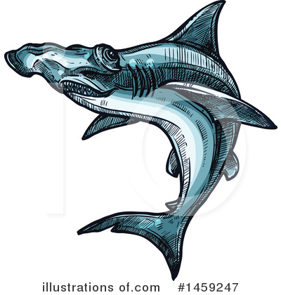 Hammerhead Shark Clipart #1459247 by Vector Tradition SM