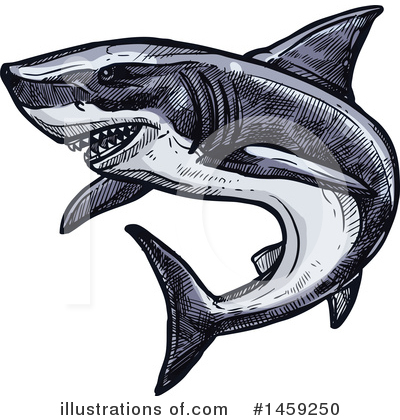 Shark Clipart #1459250 by Vector Tradition SM