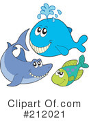 Royalty-Free (RF) Sea Life Clipart Illustration #212021