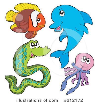 Royalty-Free (RF) Sea Life Clipart Illustration by visekart - Stock