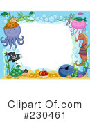 Royalty-Free (RF) Sea Life Clipart Illustration #230461