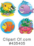 Royalty-Free (RF) Sea Life Clipart Illustration #435405