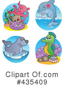 Royalty-Free (RF) Sea Life Clipart Illustration #435409