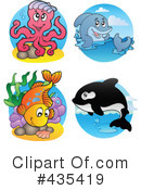Royalty-Free (RF) Sea Life Clipart Illustration #435419