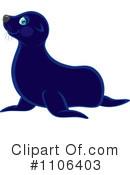 Royalty-Free (RF) Sea Lion Clipart Illustration #1106403