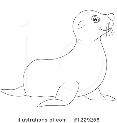 Seal Clipart #1229256 by Alex Bannykh