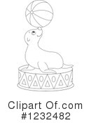 Royalty-Free (RF) Sea Lion Clipart Illustration #1232482