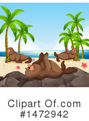 Royalty-Free (RF) Sea Lion Clipart Illustration #1472942