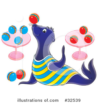Royalty-Free (RF) Sea Lion Clipart Illustration by Alex Bannykh - Stock Sample #32539