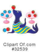 Royalty-Free (RF) sea lion Clipart Illustration #32539